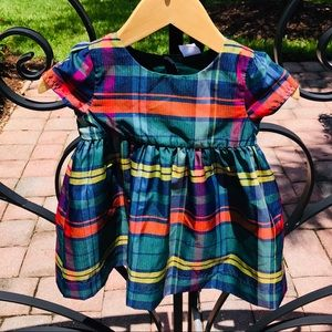 BABY GAP TARTAN Plaid Holiday Dress I Sz 12-18M